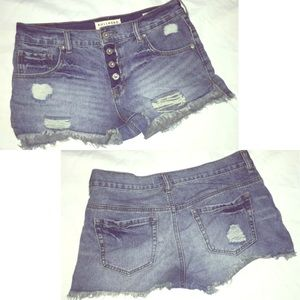 Bullhead Slouchy Short Denim Cutoffs Button Fly 3